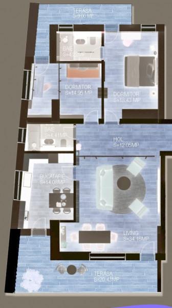 Apartament de vanzare cu terasa de 25mp