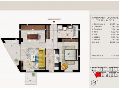 Apartamente 2,3 si 4 camere de vanzare situate in ansamblu residential