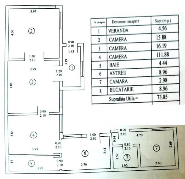Casa 4 camere curte 244mp pe colt